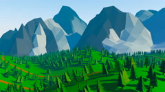 Low poly landscaped Stock Footage