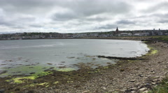 4K UltraHD View of Kirkwall, Orkney, Scotland Stock Footage