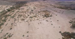 Ancient archaeological site from air in israel Stock Footage