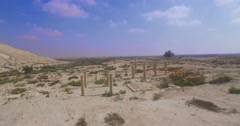 Ancient archaeological site in israel Stock Footage