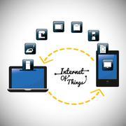 Gadgets internet of things design Stock Illustration