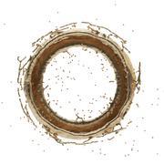 Golden splash radial 3d rendering Piirros