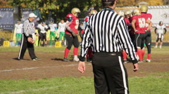 Football players standing in circle for motivation and instructions before match Stock Footage