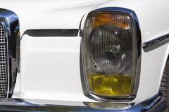 Retro car parade headlamp Stock Photos