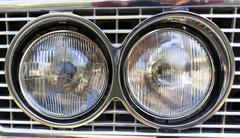 Retro car parade headlamp Stock Photos