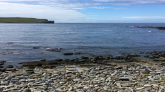 4K UltraHD View at the Bay of Skaiil, Orkney Stock Footage