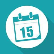Vector illustration of Calendar, editable icon Stock Illustration