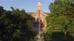 Campus Clock Tower Ascend Stock Footage