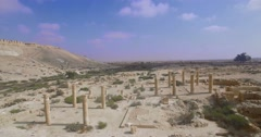 Ancient site in nizana israel Stock Footage