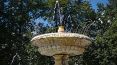 Beautiful fountain in the Park Stock Footage