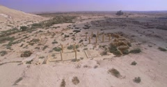 Archaeological remains in israel Stock Footage