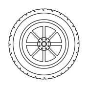 Wheel car automobile design Stock Illustration