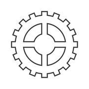 gear cog circle design - stock illustration