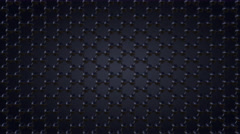 Hexagonal atomic lattice, dark grey background, 8K seamless looping dolly clip Stock Footage