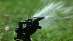Garden sprinkler. Selective focus Stock Footage