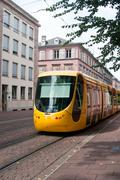 Tramway in the street of Mulhouse Stock Photos