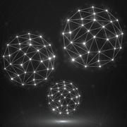 Brain. Cpu. Circuit board Stock Illustration