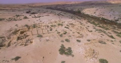 Remains of Nabatean city Stock Footage