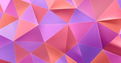 3d colorful abstract geometric polygon surface motion background loop 4k - stock footage