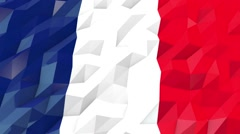 Flag of France 3D Wallpaper Illustration Stock Footage