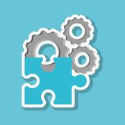 Graphic design of puzzle , vector illustration Stock Illustration
