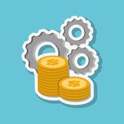 Graphic design of money , vector illustration Stock Illustration
