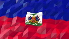 Flag of Haiti 3D Wallpaper Illustration Stock Footage