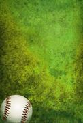 Textured Baseball Field Background with Ball - stock illustration