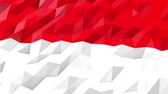 Flag of Indonesia 3D Wallpaper Illustration Stock Footage