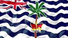 Flag of British Indian Ocean Territory 3D Wallpaper Illustration Stock Footage