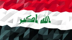 Flag of Iraq 3D Wallpaper Illustration Stock Footage