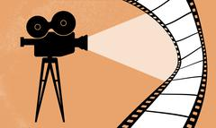 Cinema camera and movie vector illustration Stock Illustration