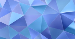 3d colorful blue abstract geometric polygon surface motion background loop 4k Stock Footage
