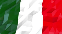 Flag of Italy 3D Wallpaper Illustration Stock Footage