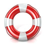 Lifebuoy isolated on white. Front view Stock Illustration