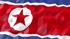 Flag of North Korea 3D Wallpaper Illustration Stock Footage