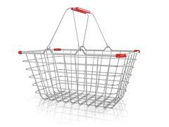 Steel wire shopping basket Stock Illustration