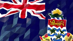 Flag of Cayman Islands 3D Wallpaper Illustration Stock Footage