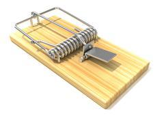 Mousetrap, 3D Stock Illustration