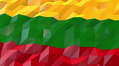 Flag of Lithuania 3D Wallpaper Illustration Stock Footage