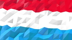 Flag of Luxembourg 3D Wallpaper Illustration Stock Footage