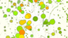 Green and yellow droplets abstract background Stock Footage