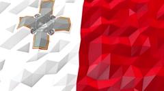 Flag of Malta 3D Wallpaper Illustration Stock Footage