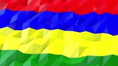 Flag of Mauritius 3D Wallpaper Illustration Stock Footage
