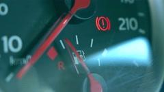 Car fuel gauge 4K macro shot Stock Footage