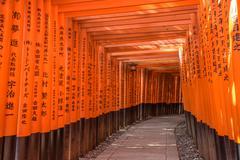 Red Torii of Fushimi Inari Shrine, Kyoto, Japan Stock Photos