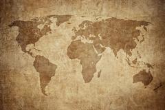 Grunge map of the world Kuvituskuvat