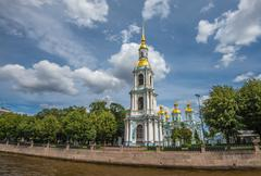 Nikolsky Marine sobor (St.Nicholas Cathedral), St.Petersburg, Russia Stock Photos
