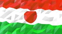 Flag of Niger 3D Wallpaper Illustration Stock Footage