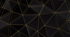 3d lattice abstract geometric polygon surface motion background loop 4k Stock Footage